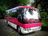 Mitsubishi Rosa bola rosa Bus For Rent.
