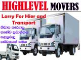 Highlevel Movres Moving Service And Transports Lorry (Truck) For Rent.