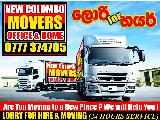 new colombo movers To-0777374705 Lorry for Hire  Lorry (Truck) For Rent.