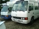Toyota Coaster 1HZ Bus For Rent.