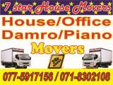 House / Office  Damro / Piano Movers Lorry (Truck) For Rent