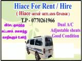 Toyota HiAce LH119 Van For Rent.