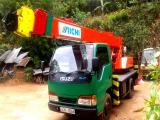 1990 Isuzu Elf Crane Lorry (Truck) For Sale.